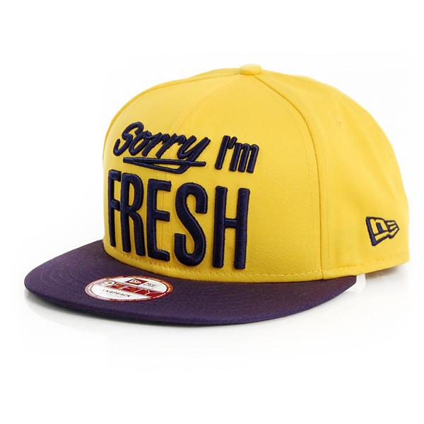 9Fifty Sorry Iam Fresh Cap Yellow - M–L