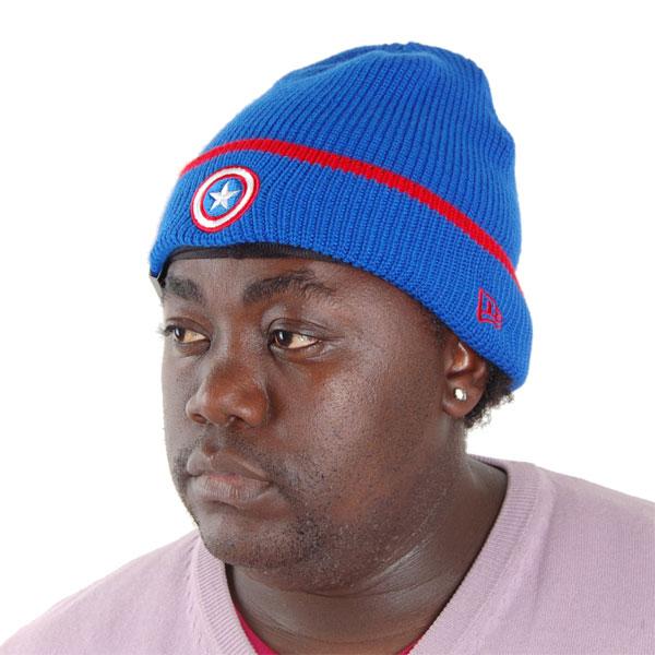 Pop Cuff Knit Captain America Official Cap - UNI