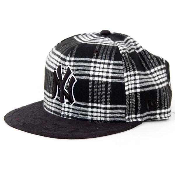 Rust Belt NY Yankees Cap Black White - 7 1/4