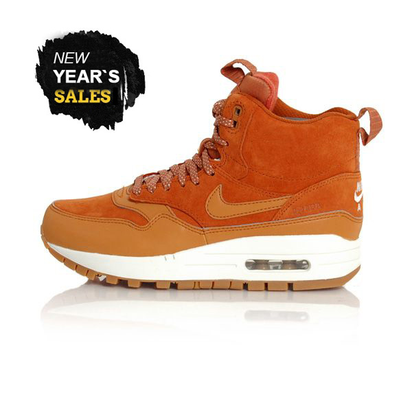 newest collection 7a5a5 581b2 Nike WMNS Air Max 1 Mid Sneackerboot Tawny Sail Gum Med Brown 685267-200 ...