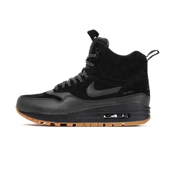 Nike WMNS Air Max 1 Mid Sneackerboot Black Black Gum Med Brown 685267-003