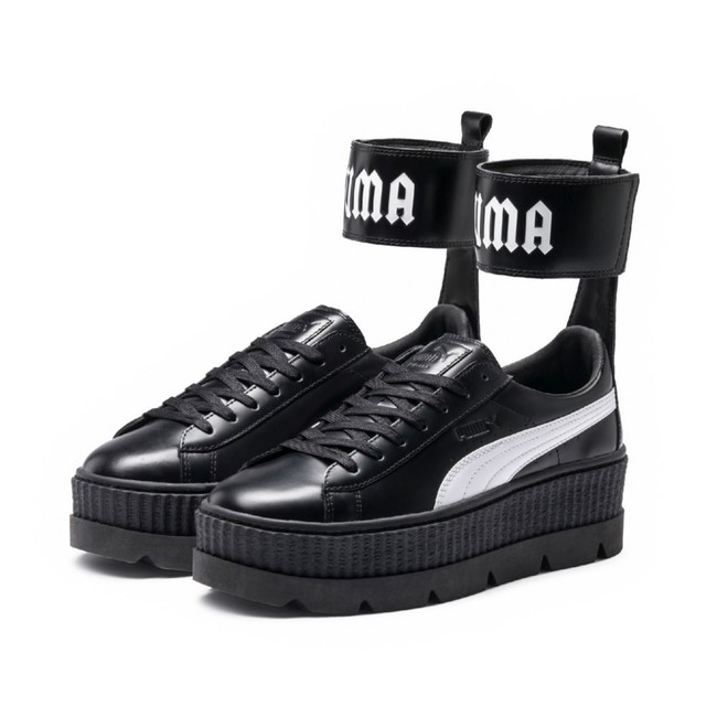 X Fenty by Rihanna Ankle Strap Women`s Sneaker Black White 36626403 - 40 - 9 - 6.5 - 25.5 cm