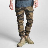 2Y Denim Cargo Jogger Pants Brown Camouflage