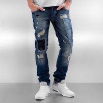 2Y Patchwork Slim Fit Jeans Blue