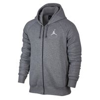 Air Jordan Flight Fleece Full-Zip Hoodie Carbon Heather Grey