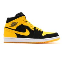 "Air Jordan Retro 1 Mid ""New Love"" Black Varsity Maize-White"