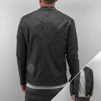 Bangastic Logo PU Leather Jacket Black
