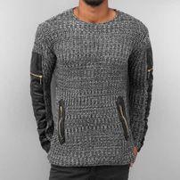 Bangastic PU Knit Sweater Anthracite