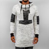 Bangastic PU Long Hoody Light Grey/Black