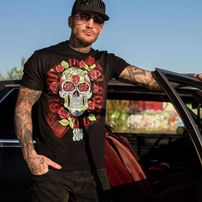 Blood In Blood Out Tijuana Skull T-Shirt