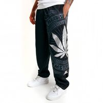 Bsat Paradise of Weed Sweatpants Black