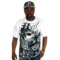 Bsat Praying Skull Tee White