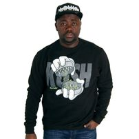 Cayler & Sons Grindin Crewneck Black White
