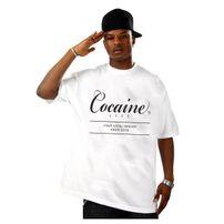 Cocaine Life Basic Large Logo Tee White