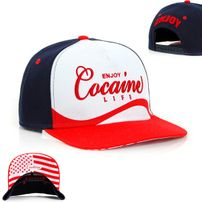 Cocaine Life Enjoy Cocaine Snapback Navy Red