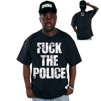 Cocaine Life Fuck The Police T-shirt Black