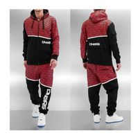 Dangerous DNGRS All Over Sweat Suit Black/Red