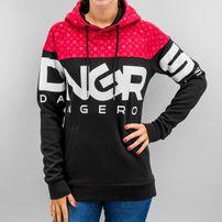 Dangerous DNGRS Big Logo Hoody Jet Black/Fiery Red