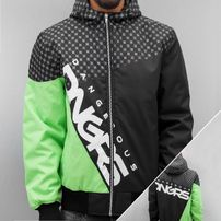 Dangerous DNGRS Classic Cross Bomber Jacket Black/Green