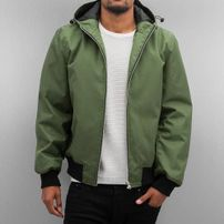 Dangerous DNGRS Hooded Bomber Jacket Olive