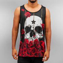 Dangerous DNGRS Skull Roses Tank Top Black