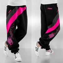 Dangerous DNGRS Skull Sweat Pants Black/Pink
