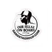 GangstaGroup Car Sticker White Black 5pcs