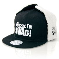 GangstaGroup Sorry I`m Swag! Dog Ear Winter Cap Black