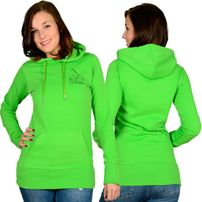 Hood Babes Women Hoodie Light Green Black