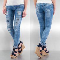 Just Rhyse Destroyed Skinny Jeans Blue