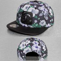 Just Rhyse Flower Snapback Cap Black