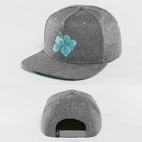 Just Rhyse Hawaiian Snapback Cap Grey