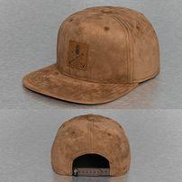 Just Rhyse Leather Look Snapback Cap Brown
