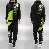 Just Rhyse Logo Sweat Suit Black/Green