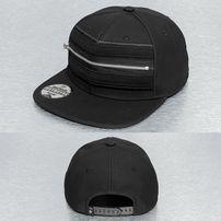 Just Rhyse Zipper Snapback Cap Black
