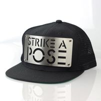 Karl Alley Strike A Pose Mesh Snapback Black Silver