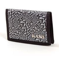 Karl Kani Jeans Logo Pattern Wallet Black