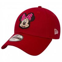 Kids New Era 9Forty Youth Disney Patch Minnie Mouse Red