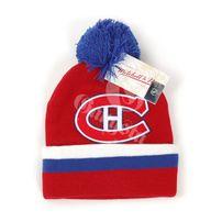 Mitchell & Ness NHL Jersey Stripe Cuff W Pom Montreal Canadiens Beanie MN-NHL-KC84Z