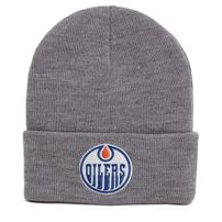 Mitchell & Ness NHL Team Logo Cuff Knit Beanie Edmonton Oilers