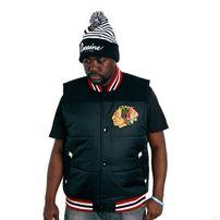 Mitchell & Ness NHL Tittle Holder Vest Chicago Blackhawks Black