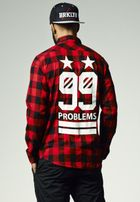 Mr. Tee 99 Stars Flanell Shirt blk/red