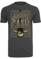Mr. Tee Johnny Cash Man In Black Tee charcoal