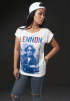 Mr. Tee Ladies John Lennon Bluered Tee white