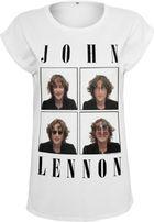 Mr. Tee Ladies John Lennon Pictures Tee white