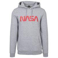 Mr. Tee NASA Worm Logo Hoody h.grey