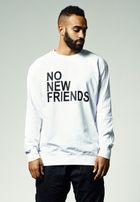 Mr. Tee No New Friends Crew white