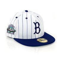 New Era 59Fifty Side Striper Brooklyn Dodgers White