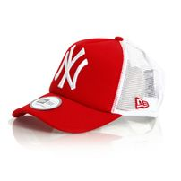 New Era 9Forty Trucker Clean T NY Scarlet White Cap