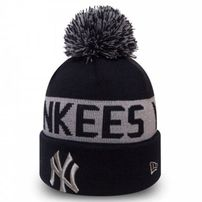 New Era Team Tonal Knit NY Yankees Navy Silver